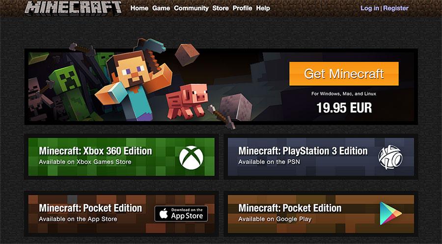 Comprar descargar Minecraft PC