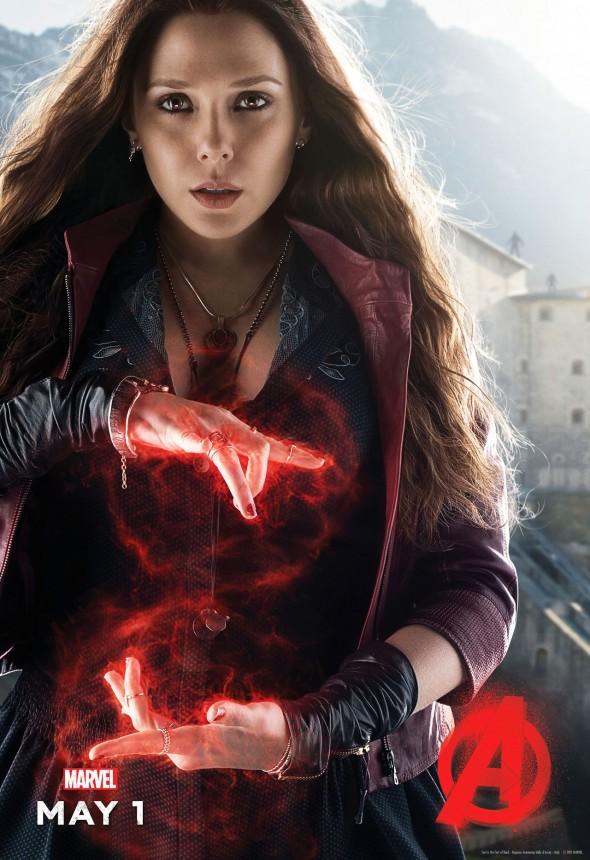 Poster vengadores la era de Ultron Bruja Escarlata