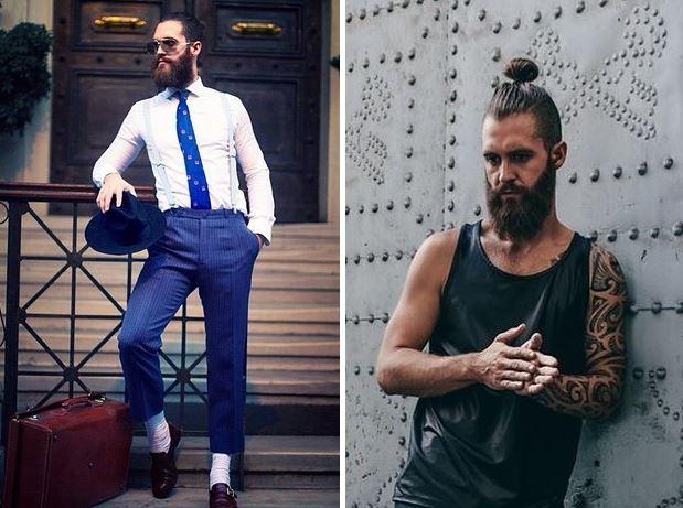 23 Hombres con barba y coleta que te dejarán sin aliento