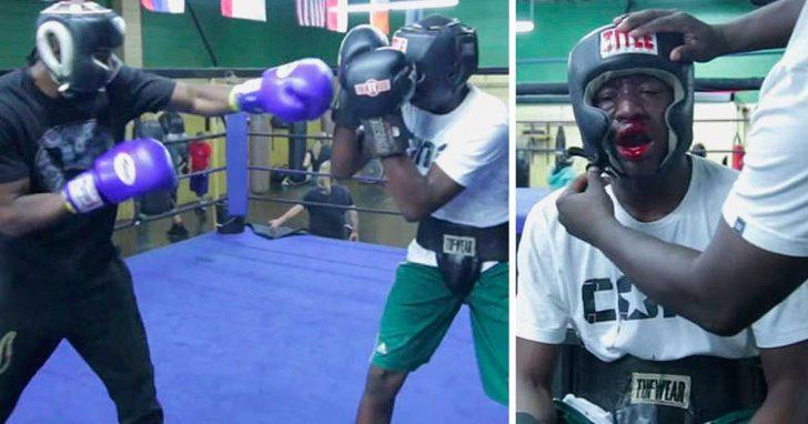 Padre obliga a su hijo adolescente luchar boxeador por bullying