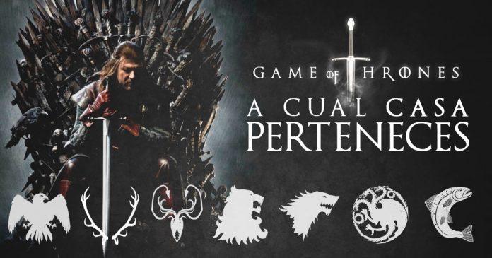 Quiz test personalidad a que casa de Juego de Tronos perteneces
