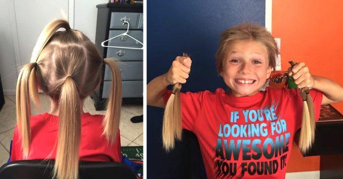 Este chico se dejo crecer el pelo durante dos anos para donarlo al ninos con cancer BANNER