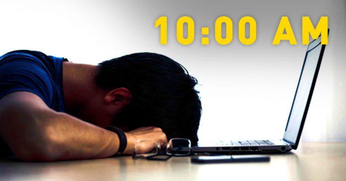 Trabajar antes de las 10h es equivalente a la tortura