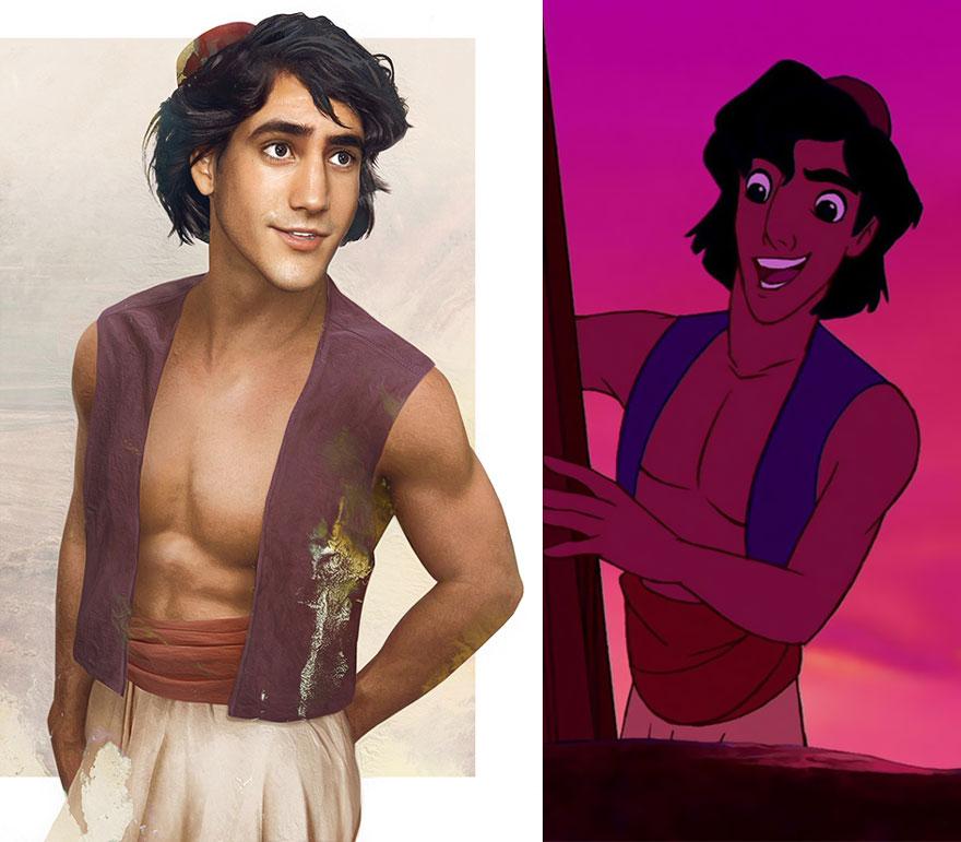 Cómo serían los principes de Disney en la vida real