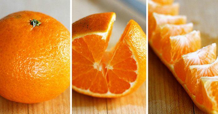 Como pelar fruta naranja truco banner