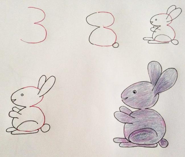 Enseña a tus hijos a dibujar con ayuda de los numeros 01