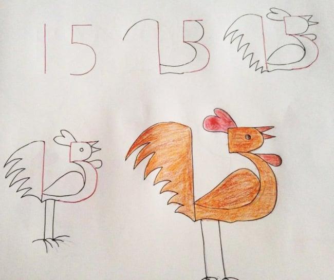 Enseña a tus hijos a dibujar con ayuda de los numeros 02