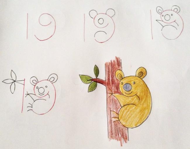 Enseña a tus hijos a dibujar con ayuda de los numeros 03