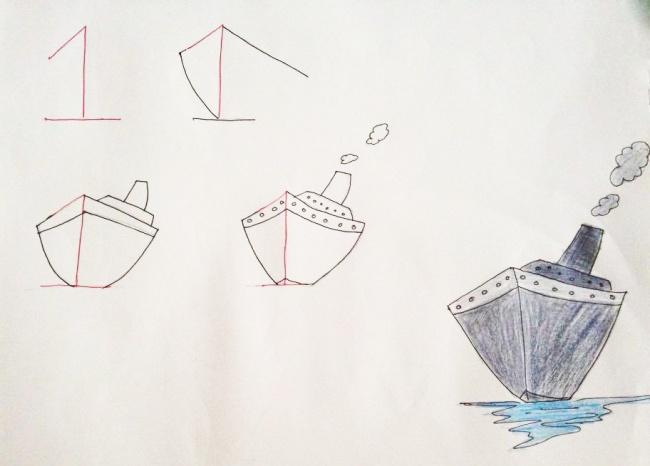 Enseña a tus hijos a dibujar con ayuda de los numeros 04