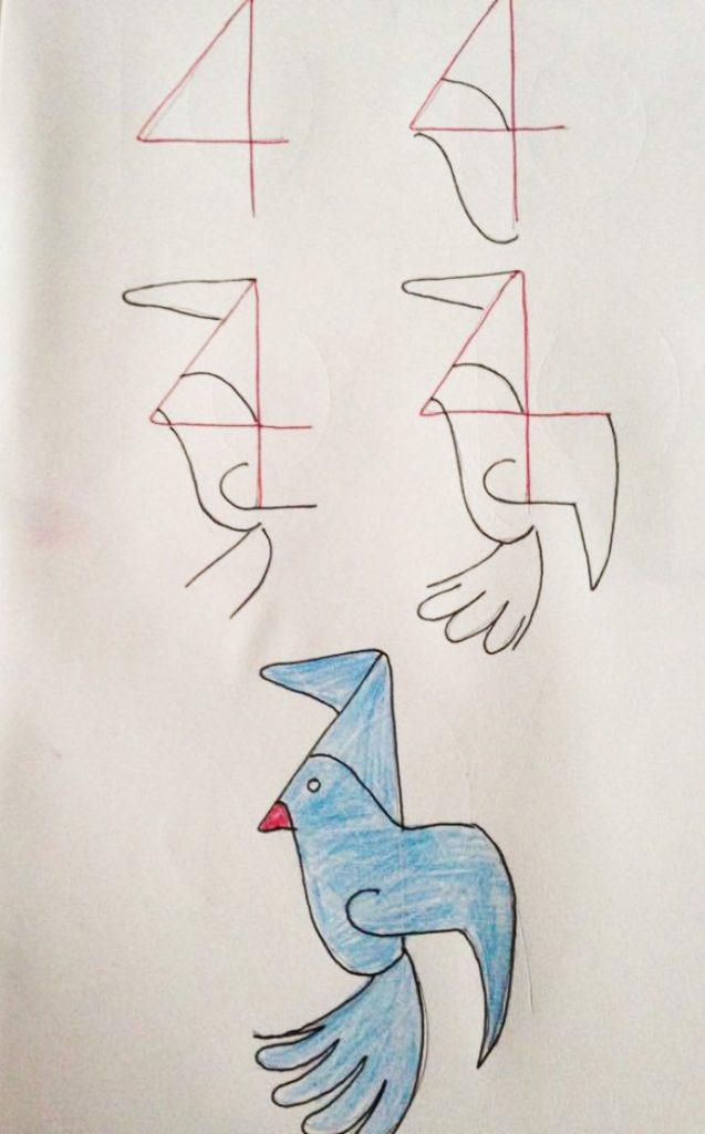 Enseña a tus hijos a dibujar con ayuda de los numeros 05