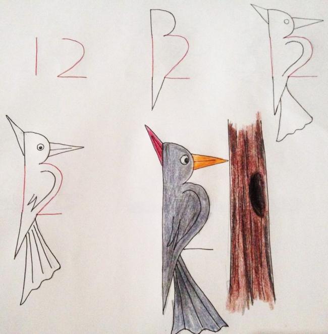 Enseña a tus hijos a dibujar con ayuda de los numeros 06
