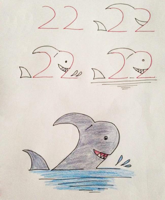 Enseña a tus hijos a dibujar con ayuda de los numeros 07