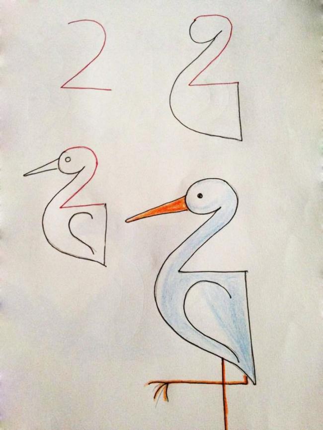 Enseña a tus hijos a dibujar con ayuda de los numeros 08