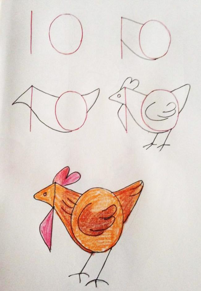 Enseña a tus hijos a dibujar con ayuda de los numeros 09