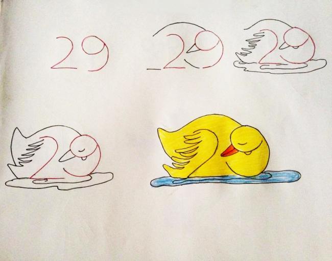 Enseña a tus hijos a dibujar con ayuda de los numeros 10