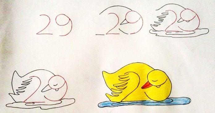 Ensena a tus hijos a dibujar con ayuda de los numeros banner