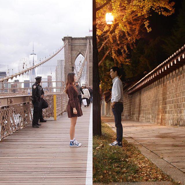 Esta pareja supera su relacion a distancia de forma creativa 12