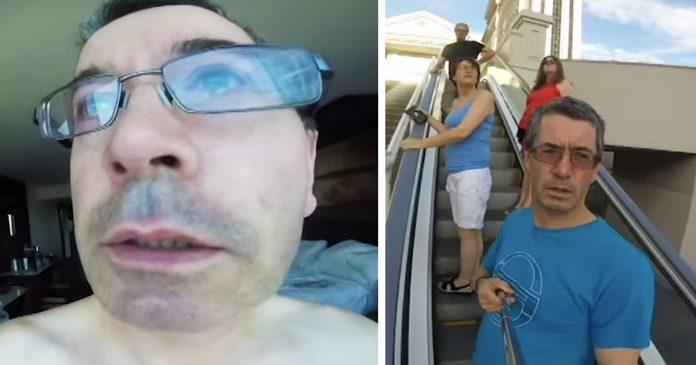 este padre grabo sus vacaciones las vegas con camara al reves banner