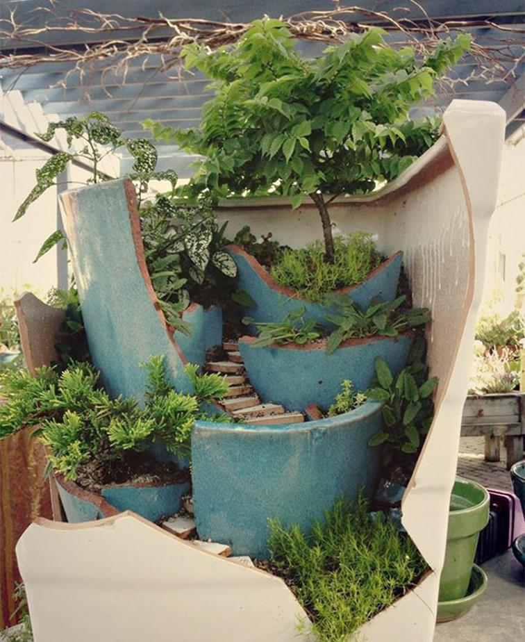 Aprende a transformar tus Macetas rotas en Increíbles Jardines de Hadas