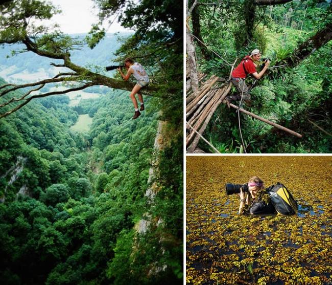 20 Increíbles Fotógrafos que harían cualquier cosa para conseguir la Imagen perfecta