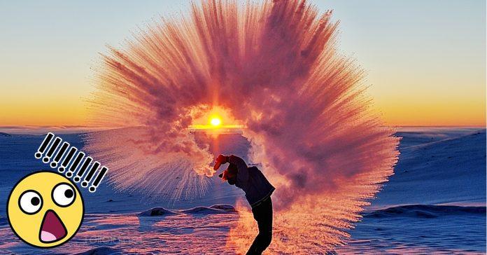 Lanzar te caliente en el circulo polar artico banner