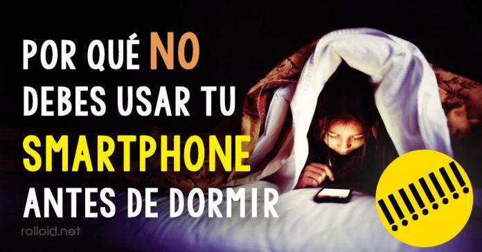 No usar smartphone antes de dormir banner