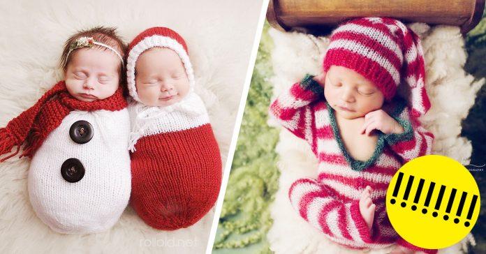 Primera navidad diminutos bebes recien nacidos banner