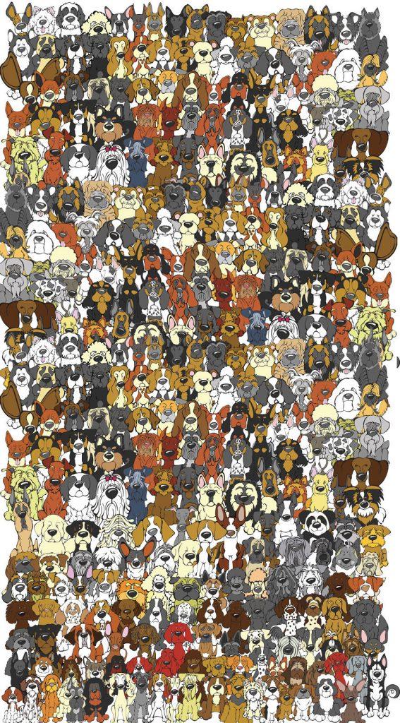 Encuentra al panda escondido entre perros 01