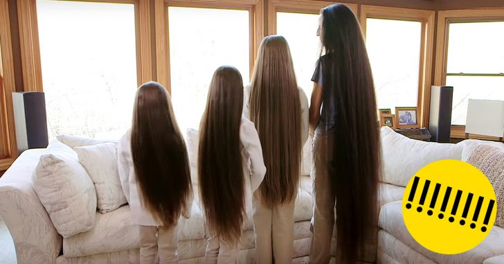 Familia rapunzel nunca se ha cortado el pelo banner
