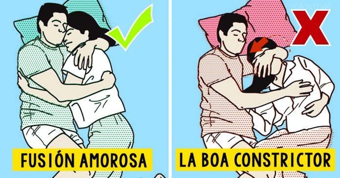 Las 10 mejores y peores posiciones para dormir en pareja banner