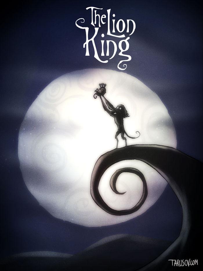 Así serían las Películas de Disney si las Hubiese dirigido Tim Burton