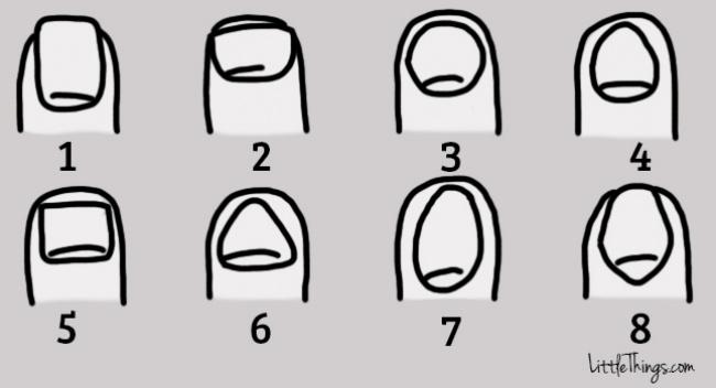 8 Tipos de uñas comunes y la personalidad a la que se conecta cada una de ellas