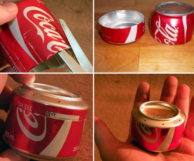 Csontruye hornilla o estufa casera con lata de refresco 03