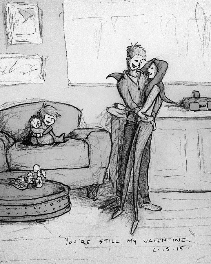 Un Marido Ilustró cada uno de los Días que vivió con su Mujer en 365 Increíbles Imágenes