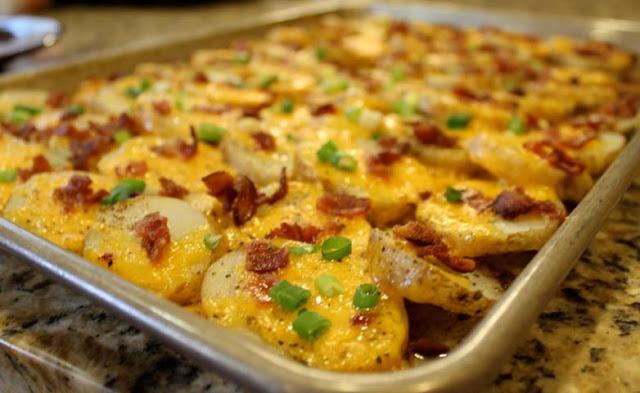 Receta patatas horno bacon queso 00