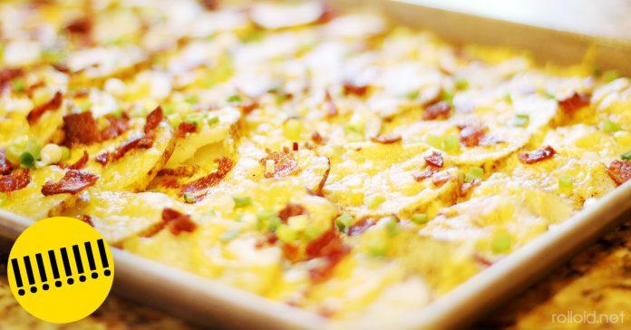Receta patatas horno bacon queso banner