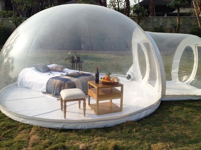 Esta Burbuja Transparente te permitirá dormir bajo las mismísimas Estrellas