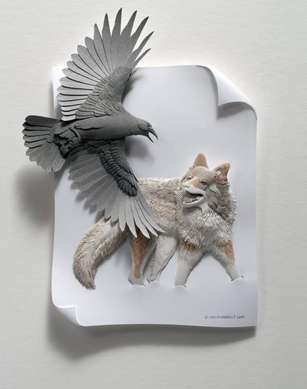 calvin nicholls arte esculturas papel 04