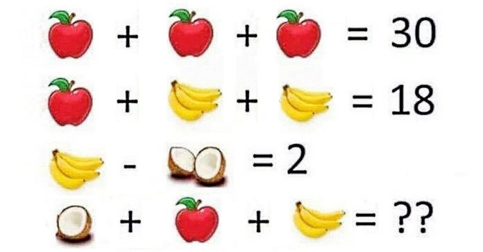rompecabezas algebra matematicas fruta banner