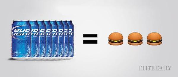 Bebiendo calorias Asi se compara el Alcohol a tus Comidas Favoritas 01