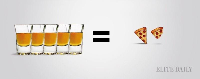 Bebiendo calorias Asi se compara el Alcohol a tus Comidas Favoritas 02