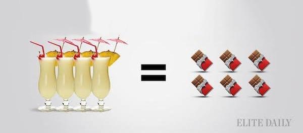 Bebiendo calorias Asi se compara el Alcohol a tus Comidas Favoritas 08