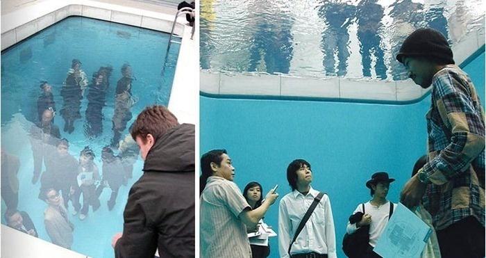 Una piscina se viraliza al jugar con el cerebro de la gente que la visita