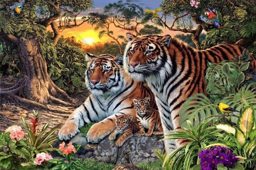 Pocas personas son capaces de encontrar a todos los Tigres de Esta Imagen 01