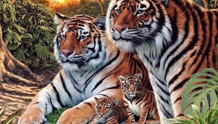 Pocas personas son capaces de encontrar a todos los Tigres de Esta Imagen 02