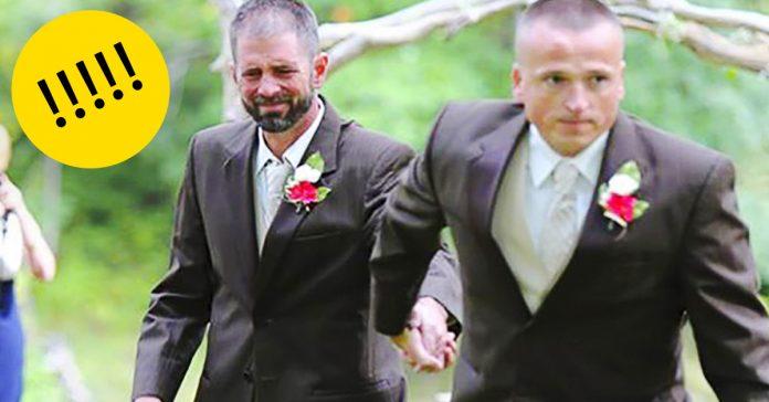 En lugar de caminar hasta el altar el padre de la novia agarro a este hombre. La razon es increible banner