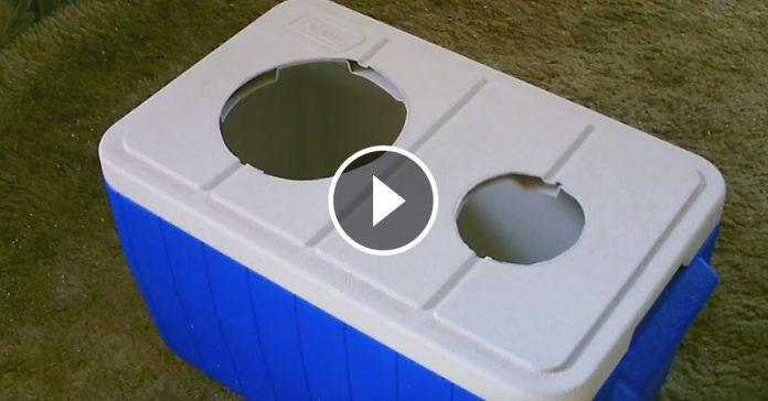 Hizo dos agujeros en la tapa de esta nevera mira lo que construye facilmente para mejorar su vida banner