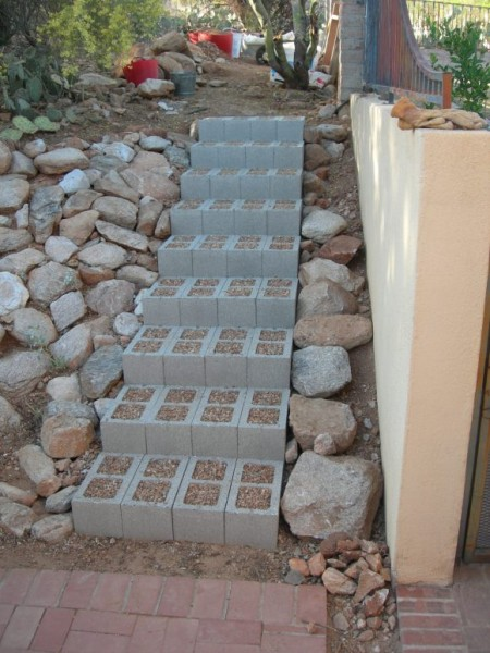 Se le ocurrio una idea Brillante para estos bloques de Cemento 08