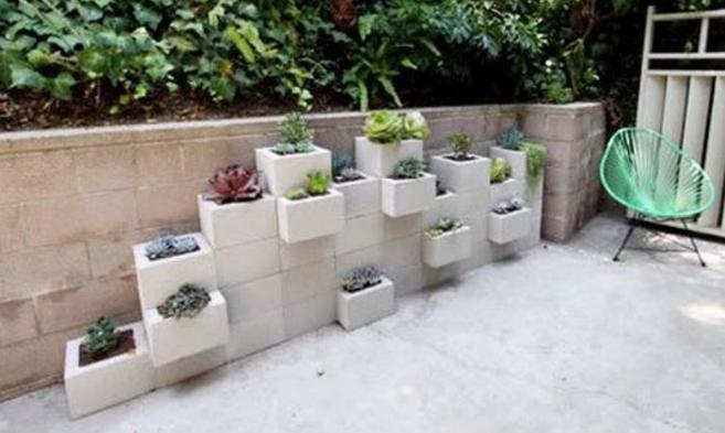 Se le ocurrio una idea Brillante para estos bloques de Cemento 14