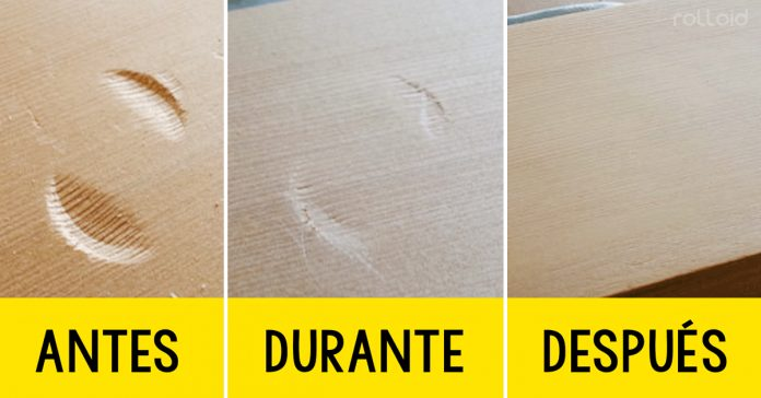 truco eliminar golpes madera banner